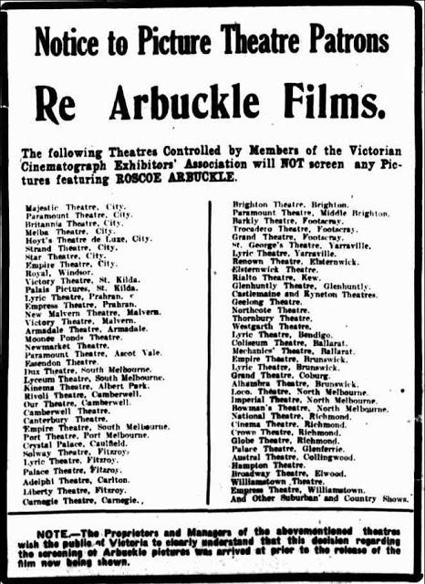 Fatty Arbuckle Australian Ban