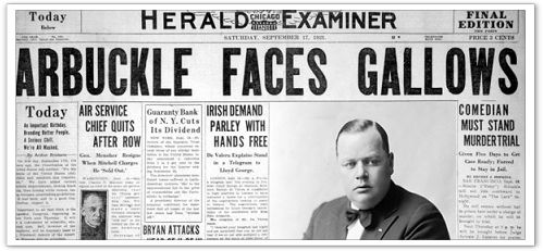 Fatty Arbuckle Gallows Headline
