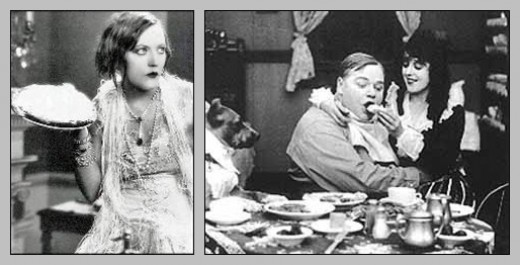 Fatty Arbuckle getting pied