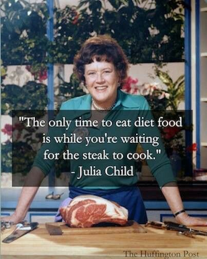 Julia Child on diet food