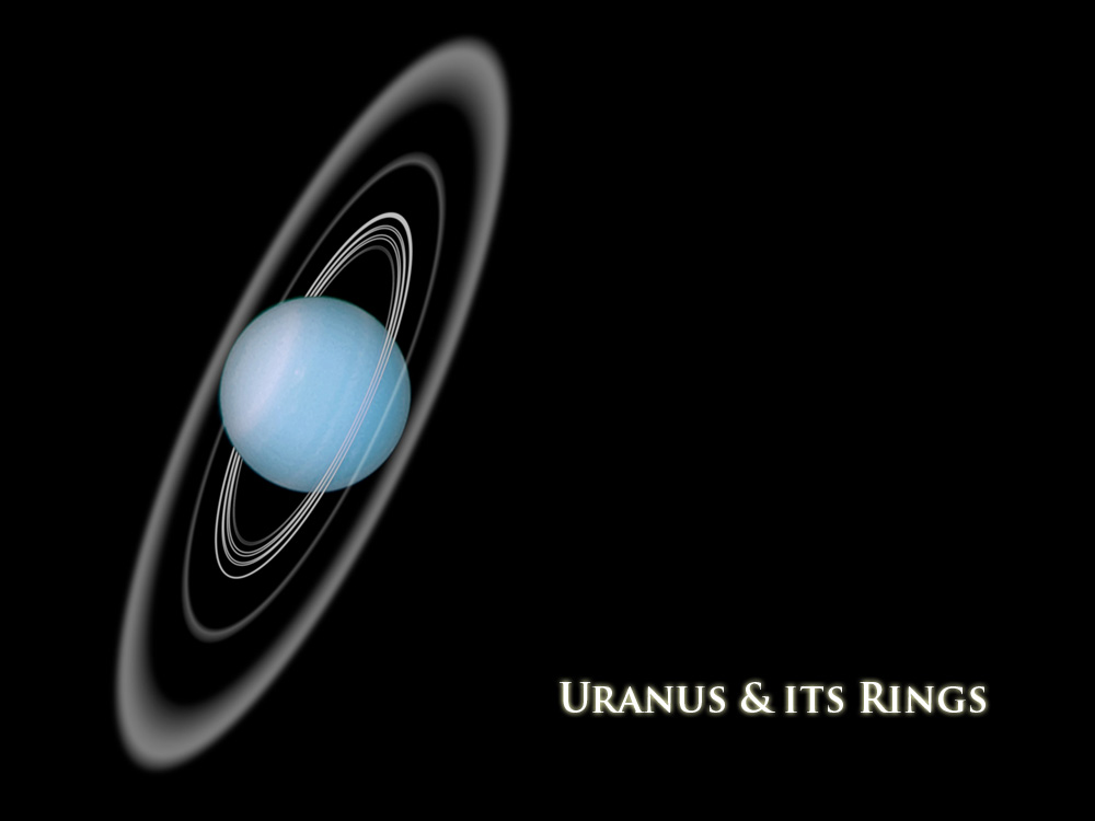 Uranus and its rings giantworldsorg