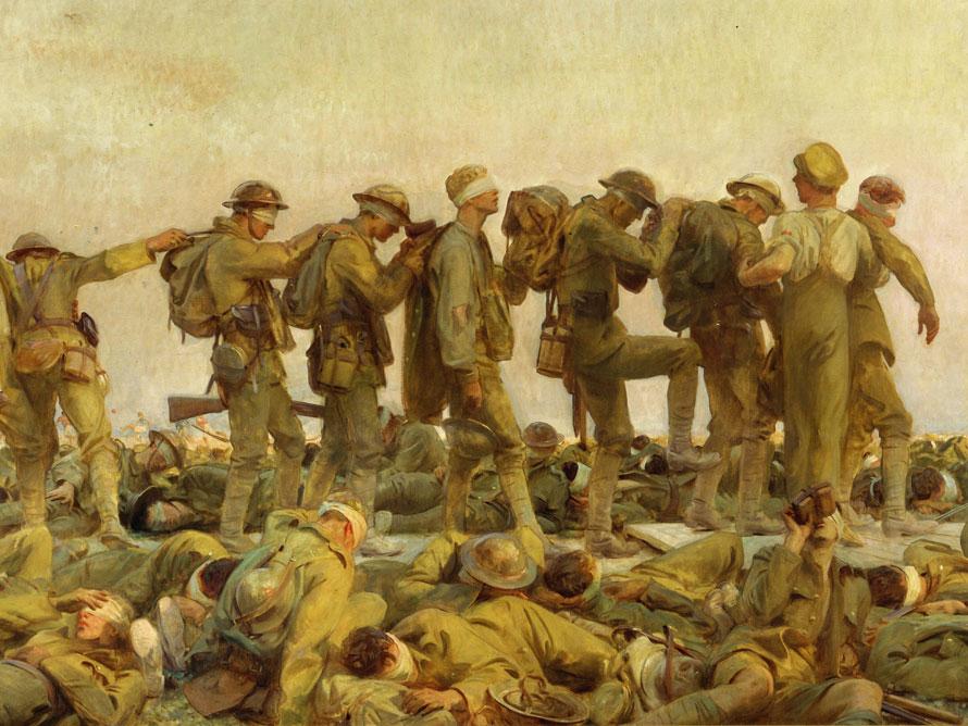 Gassed by John Singer Sargent 1918