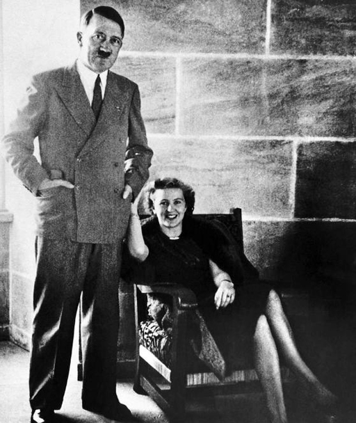 Hitler and Eva seated