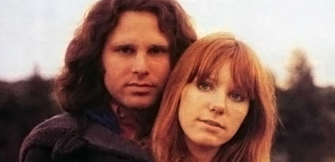 Jim Morrison & Pamela Courson in Twilight