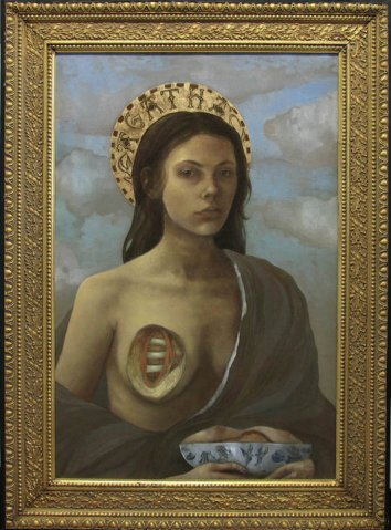 The psychic source who started all the visionary mess - Saint Agatha. A fellow martyr, Agatha lost her life by having her breasts gouged out and like Lucy, carries her tortured body part on a plate as well.