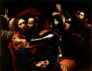 """""""The Taking of Christ"""" by Caravaggio, 1602"""