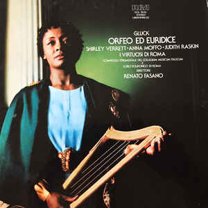 "Shirley Verrett singing a mezzo ""dude"" role or ""pants part"" of the mythic rock star of the ancient world Orpheus in Gluck's ""Orfeo et Euridice"""