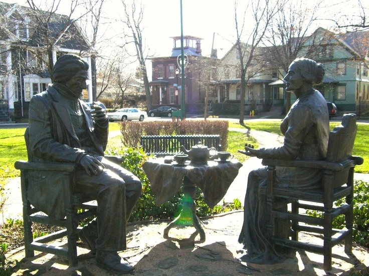Susan B. Anthony & Frederick Douglass Sculpture Rochester